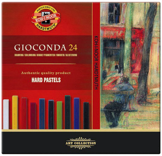 Koh-I-Noor 8114 Artist's Hard Chalks - Assorted Colours (Pack of 24)