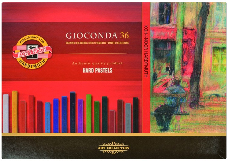 Koh-I-Noor 8115 Artist's Hard Chalks - Assorted Colours (Pack of 36)