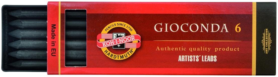 Koh-I-Noor 8673 Artificial Charcoal - 5.6mm x 120mm - Hard (Set of 6)