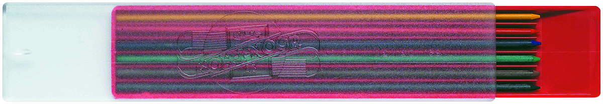 Koh-I-Noor 4301 Coloured Leads - 2.0mm x 120mm - Assorted Colours (Pack of 6)