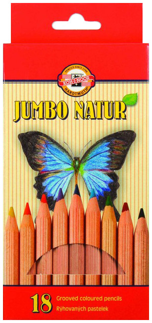 Koh-I-Noor 2173 Jumbo Coloured Pencils - Assorted Colours (Pack of 18)
