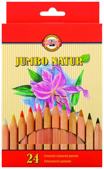 Koh-I-Noor 2174 Jumbo Coloured Pencils - Assorted Colours (Pack of 24)