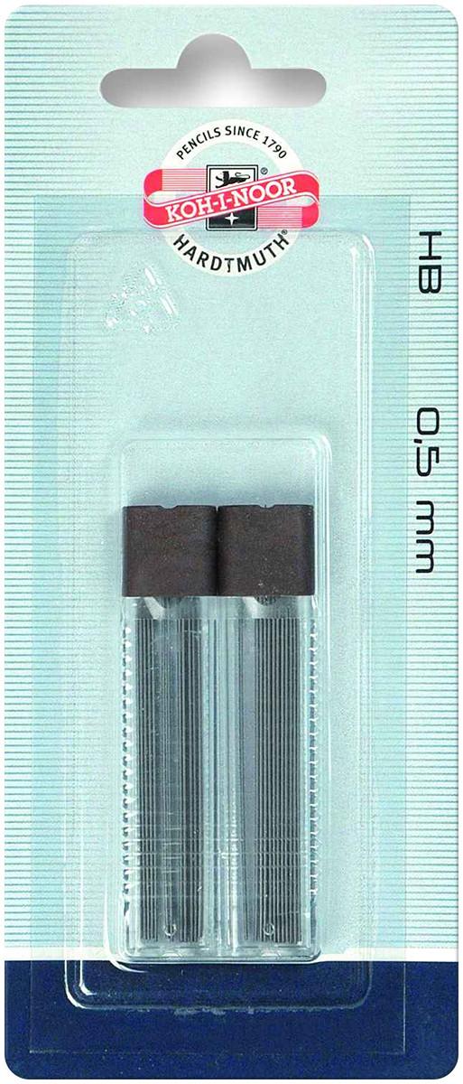 Koh-I-Noor 4152 Fine Graphite Leads - 0.5mm x 60mm - HB (2 Tubes of 12)
