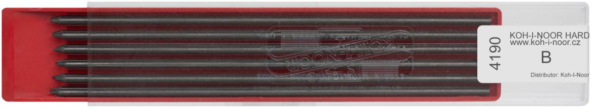 Koh-I-Noor 4190 Graphite Leads - 2.5mm x 120mm (Plastic Case of 12)