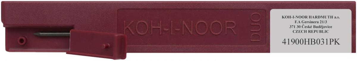 2.0mm x 120mm Plastic Case of 2 Koh-I-Noor 4190 Graphite Leads