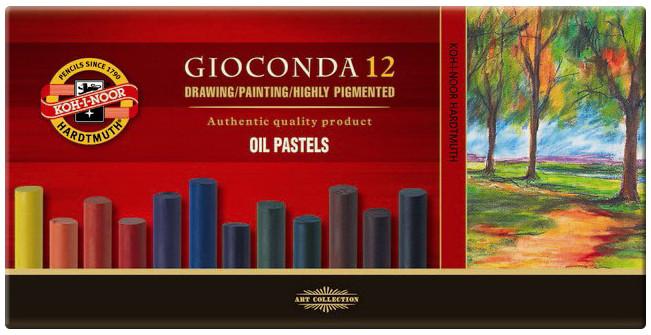 Koh-I-Noor 8352 Artist's Oil Pastels - Assorted Colours (Pack of 12)