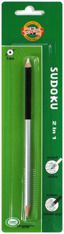 Koh-I-Noor Sudoku Pencil with Eraser - 2B