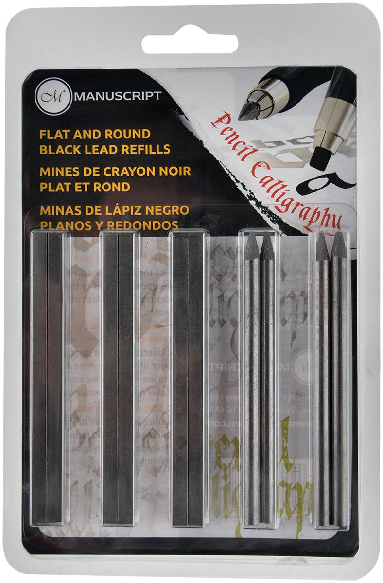 Manuscript Callicreative Lettering Pencil - Flat & Round Lead Set