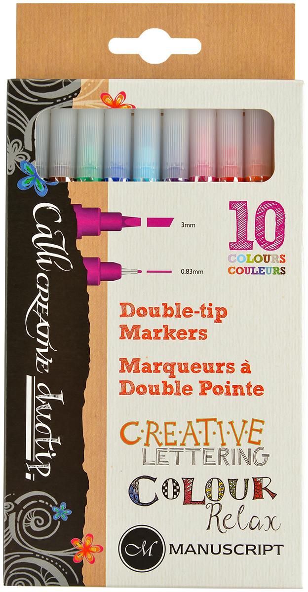 Manuscript Callicreative Duotip Markers - Assorted Colours (Pack of 10)