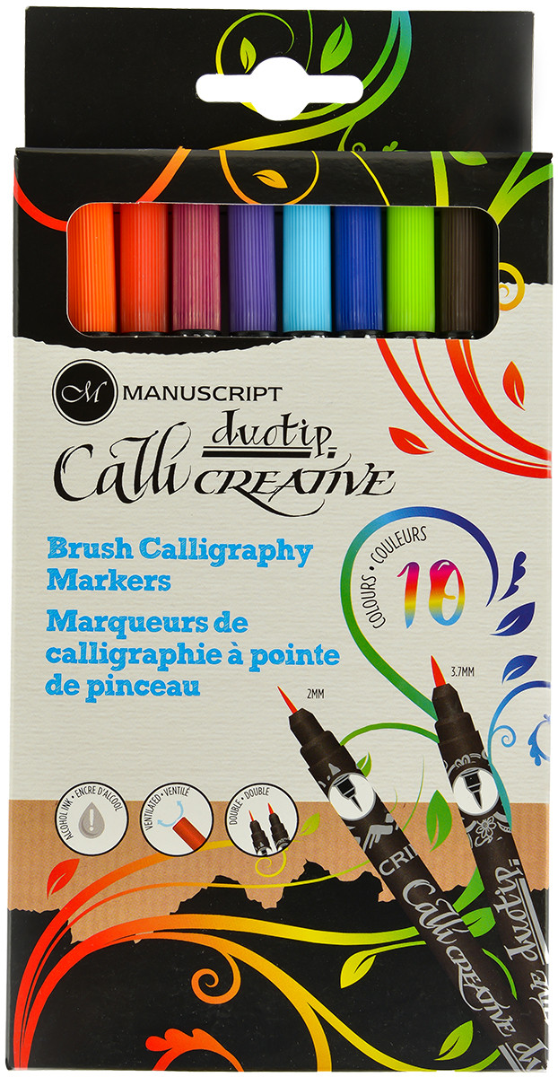 Manuscript Callicreative Permanent Brush - Duotip (Pack of 10)