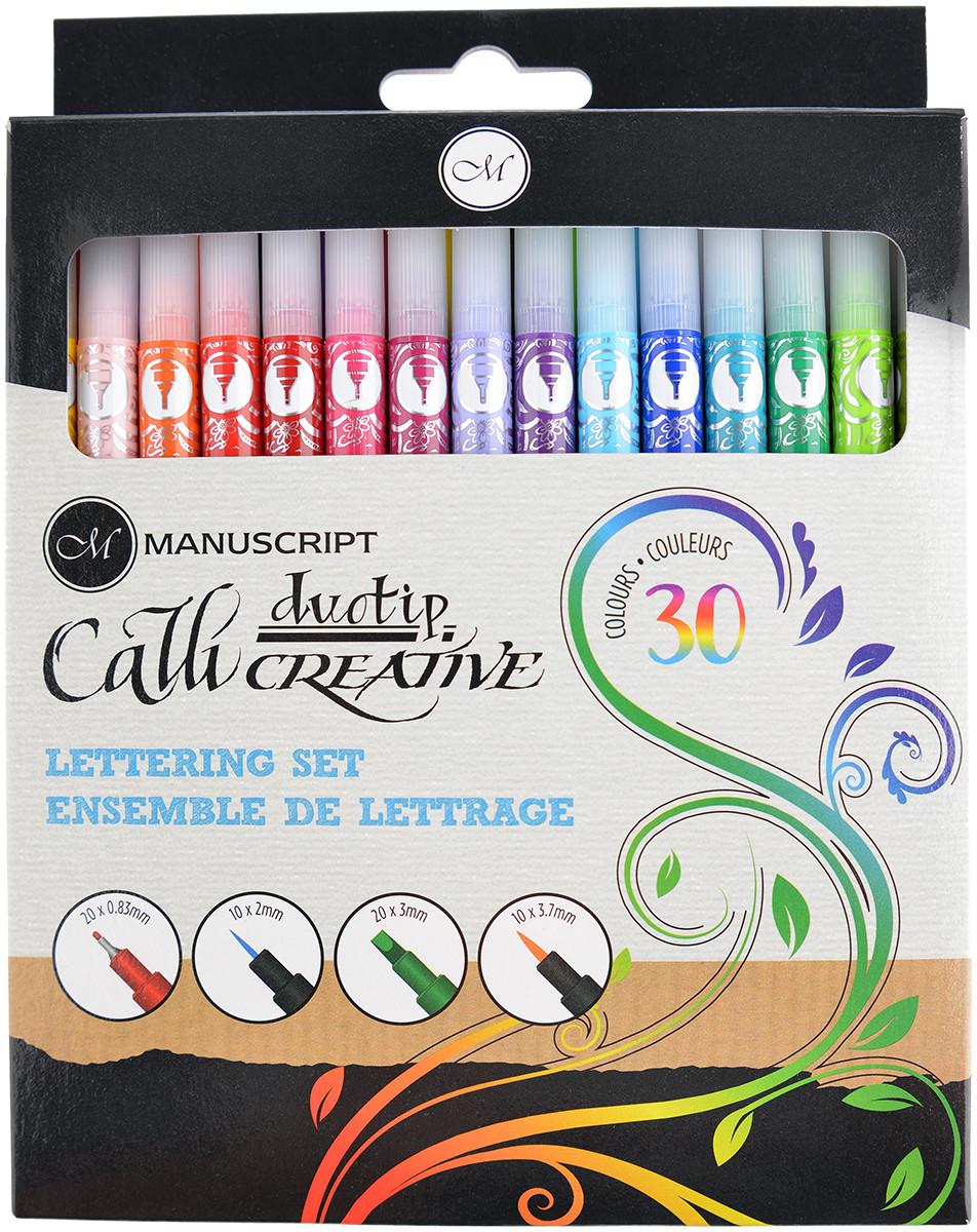 Manuscript Callicreative Duotip Markers - Assorted Colours (Pack of 30)