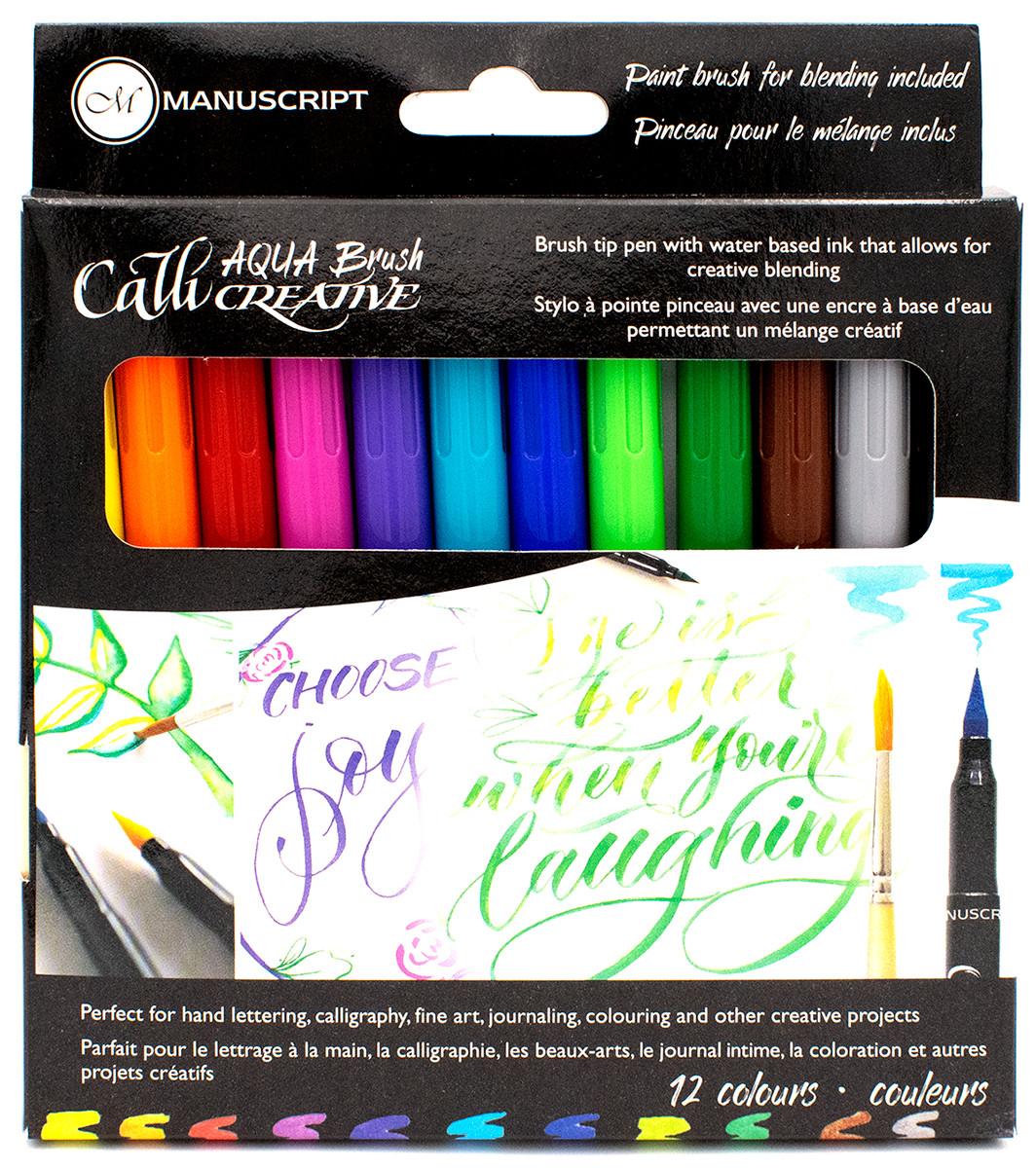 Manuscript Callicreative Aqua Brush Markers (Pack of 12)
