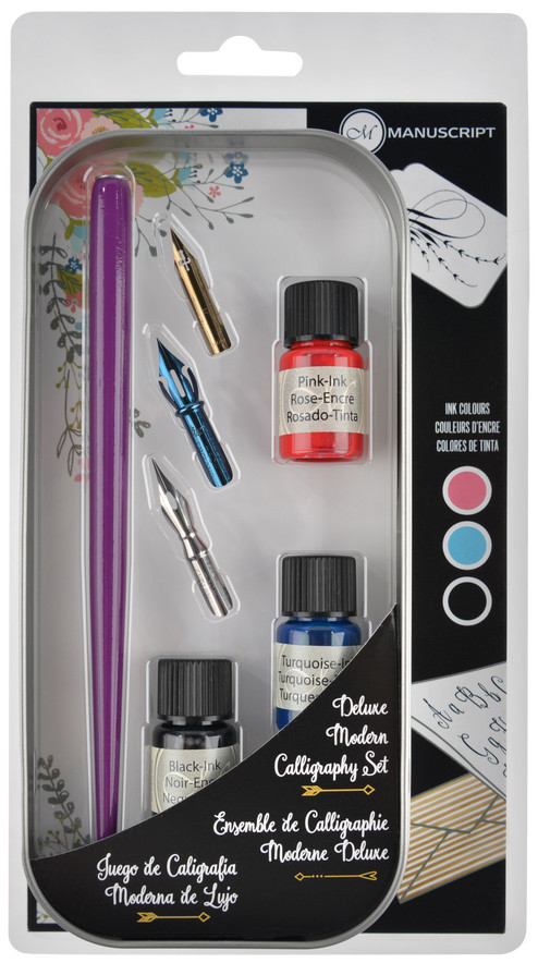 Manuscript Modern Calligraphy Ink Set - Assorted Colours (Pack of 3)