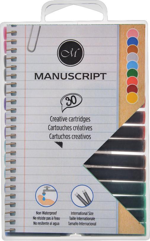 Manuscript Ink Cartridges - Creative Colours (Pack of 30)