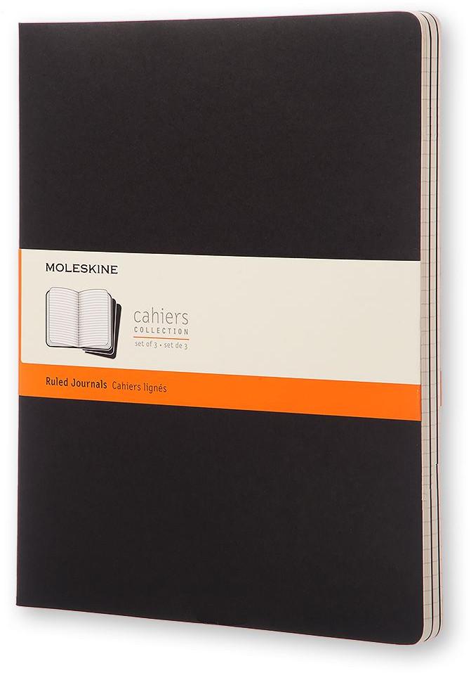 Moleskine Cahier Extra Extra Large Journal - Ruled - Set of 3 - Assorted