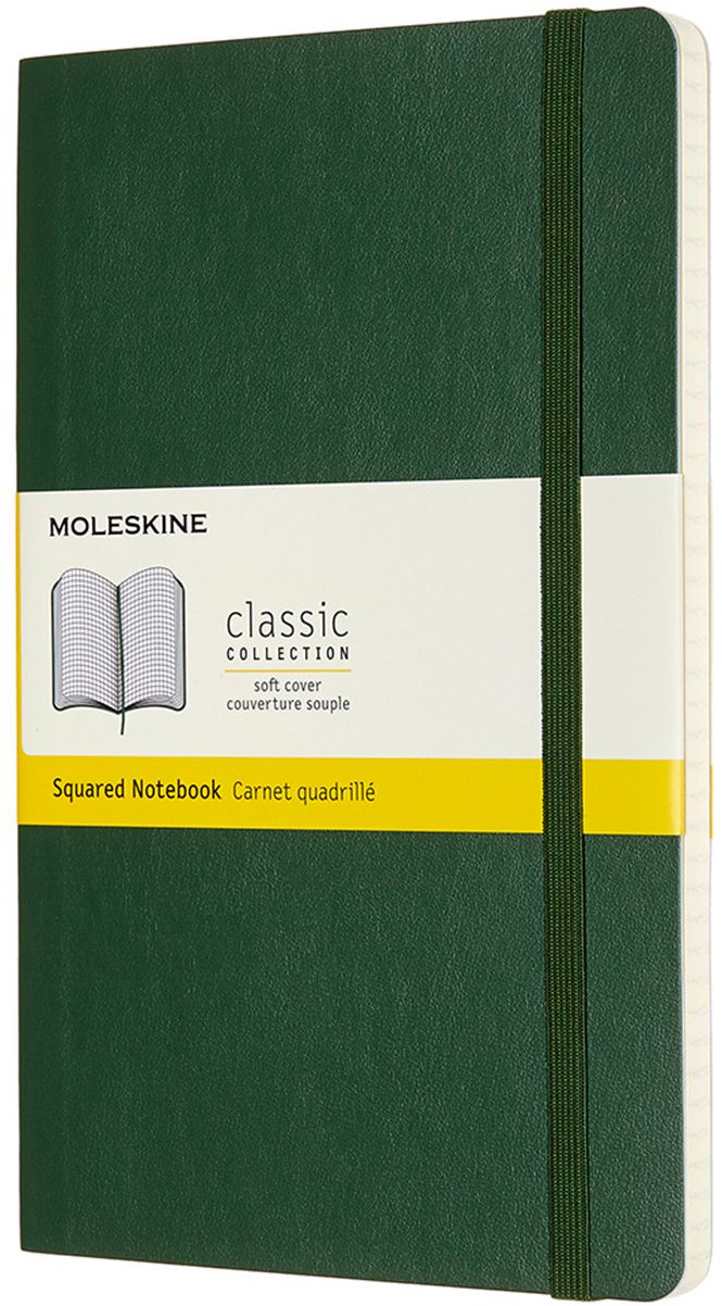 Moleskine Classic Soft Cover Large Notebook - Squared - Assorted
