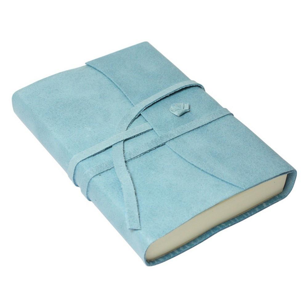 Papuro Amalfi Leather Journal - Blue - Small