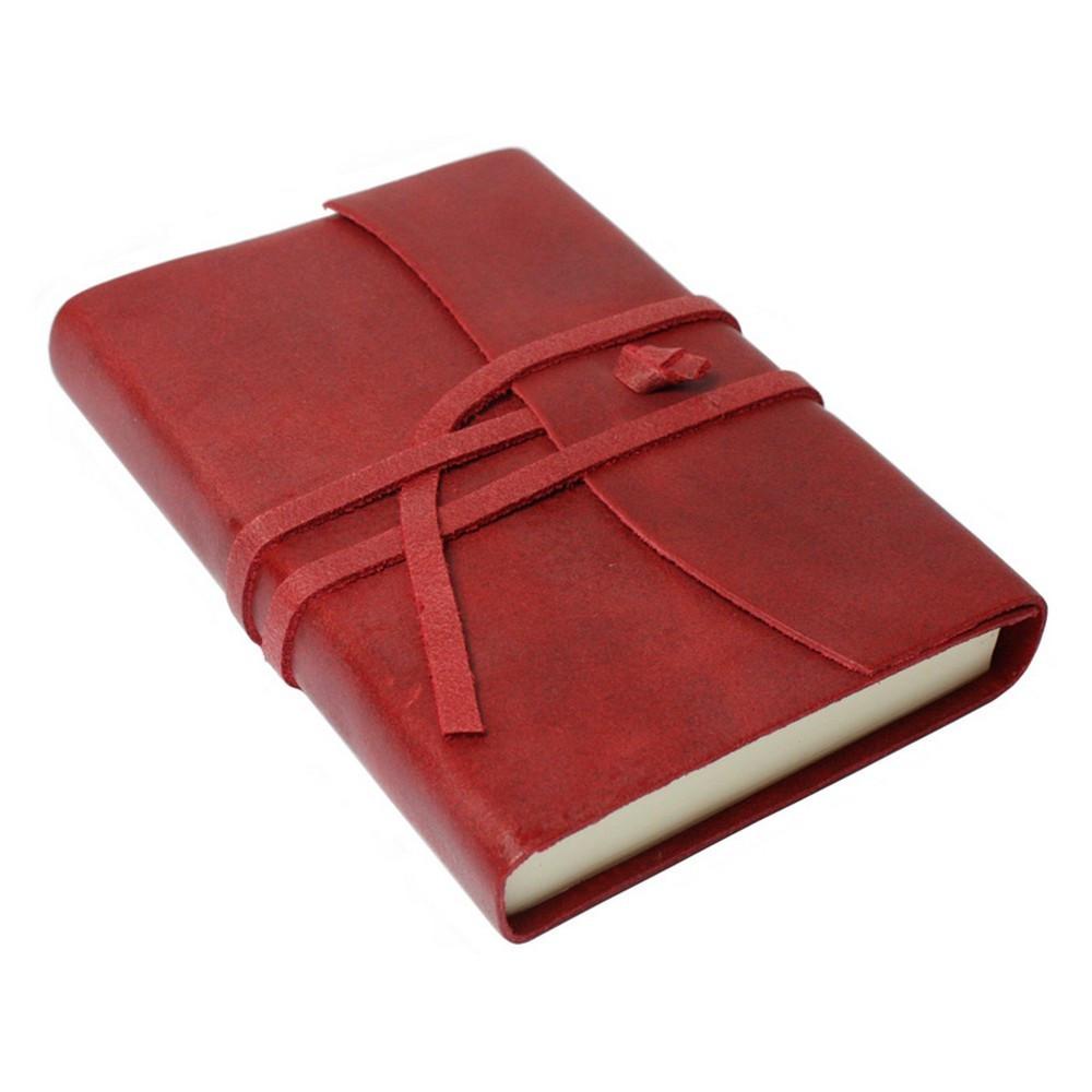 Papuro Amalfi Leather Journal - Red - Small