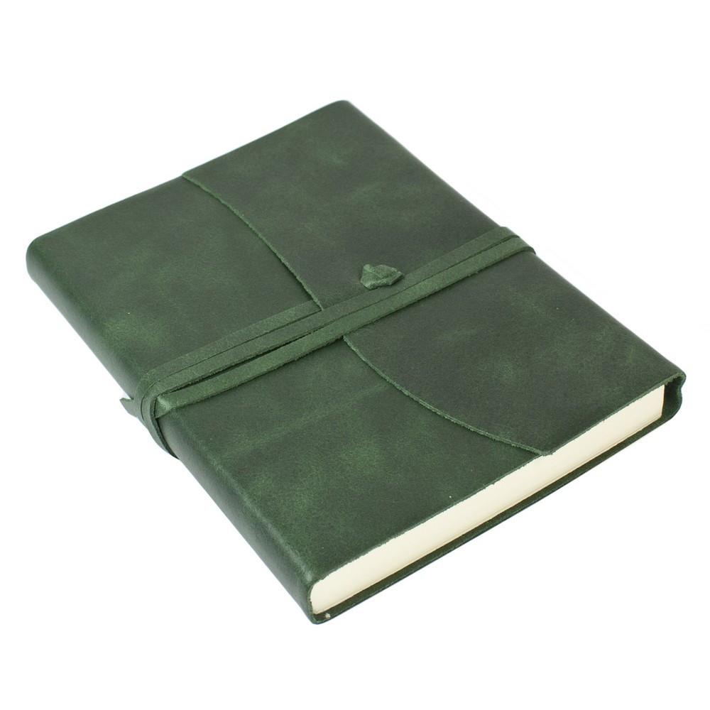 Papuro Amalfi Leather Journal - Green - Medium