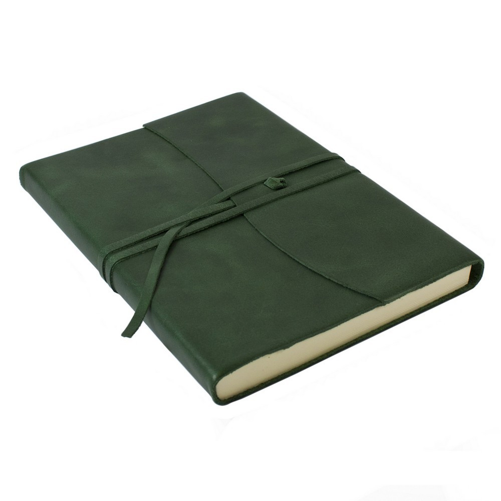 Papuro Amalfi Leather Journal - Green - Large