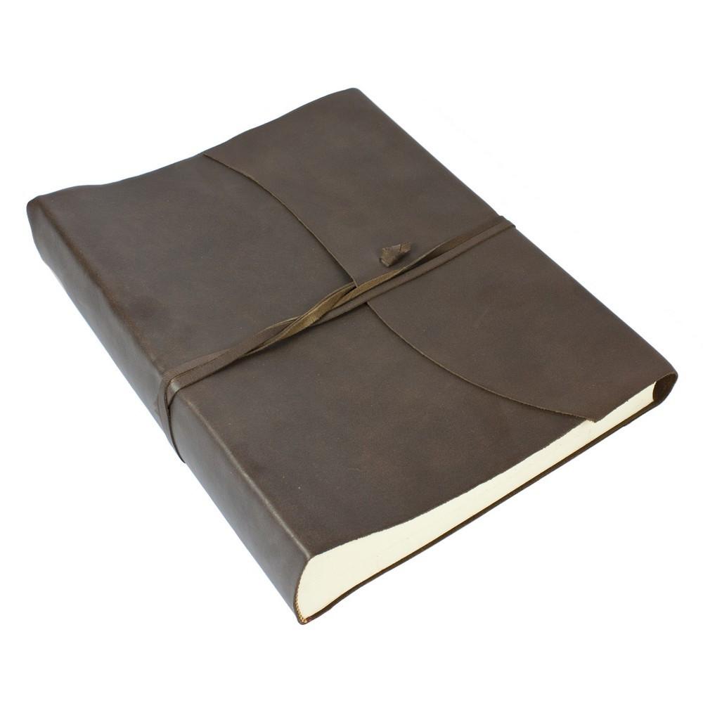 Papuro Amalfi Leather Photo Album - Brown - Large