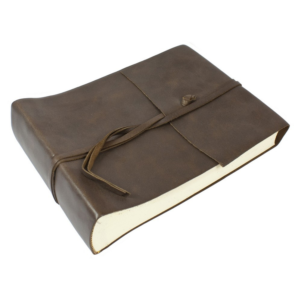 Papuro Amalfi Leather Photo Album - Brown - Small