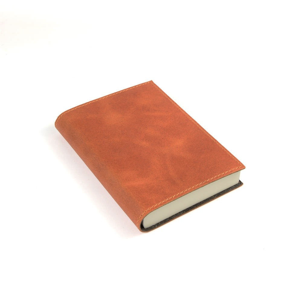 Papuro Capri Leather Journal - Orange - Small