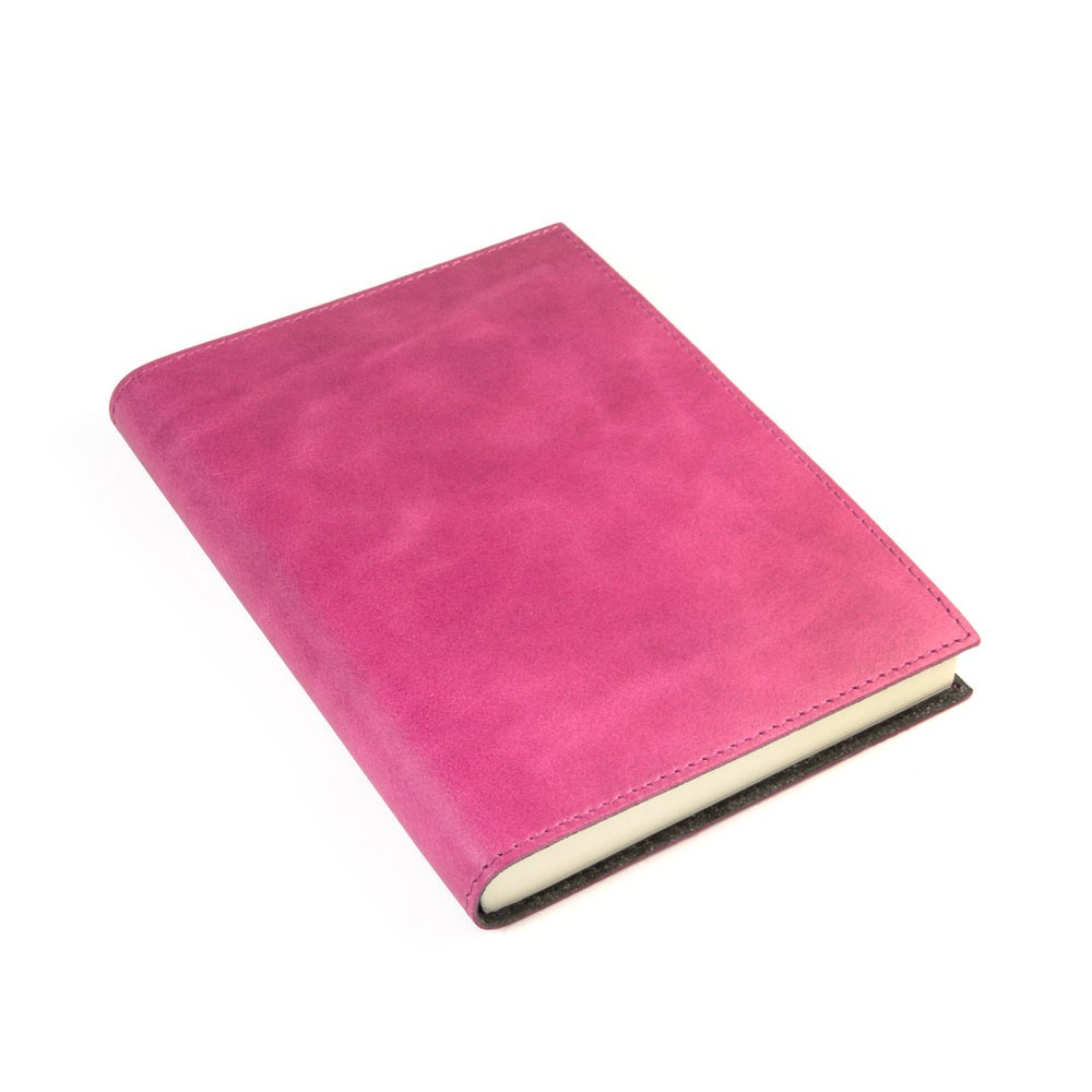Papuro Capri Leather Journal - Raspberry - Medium