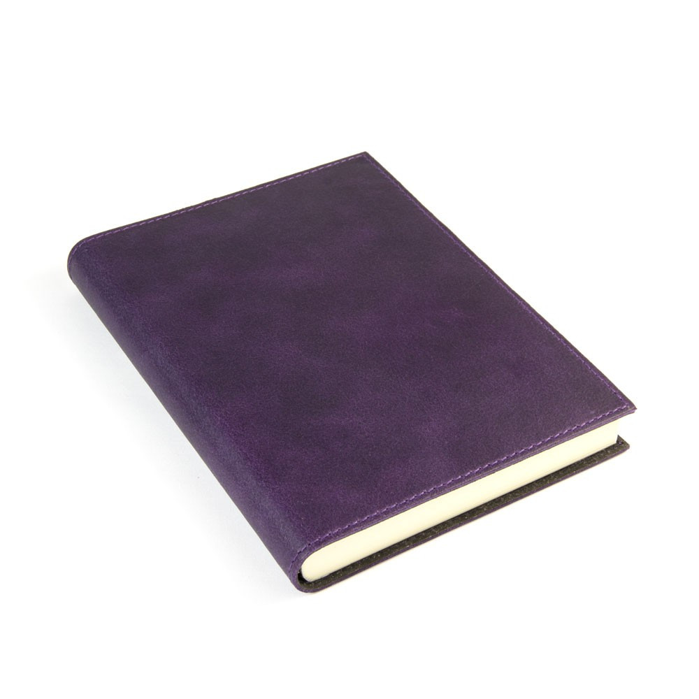 Papuro Capri Leather Journal - Aubergine - Medium