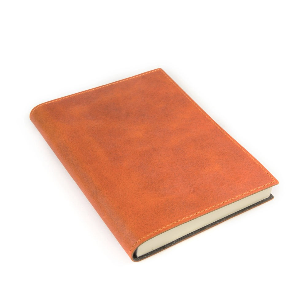 Papuro Capri Leather Journal - Orange - Medium