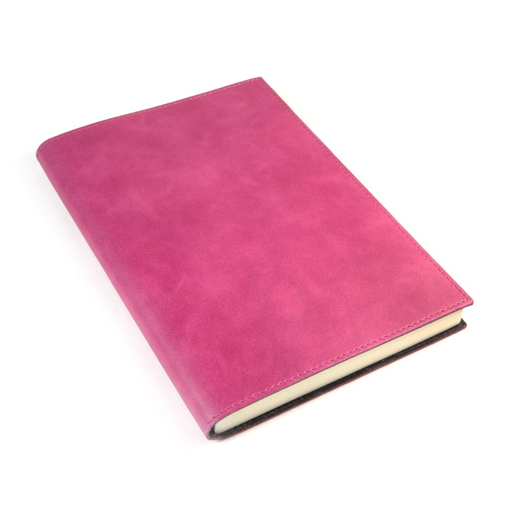 Papuro Capri Leather Journal - Raspberry - Large