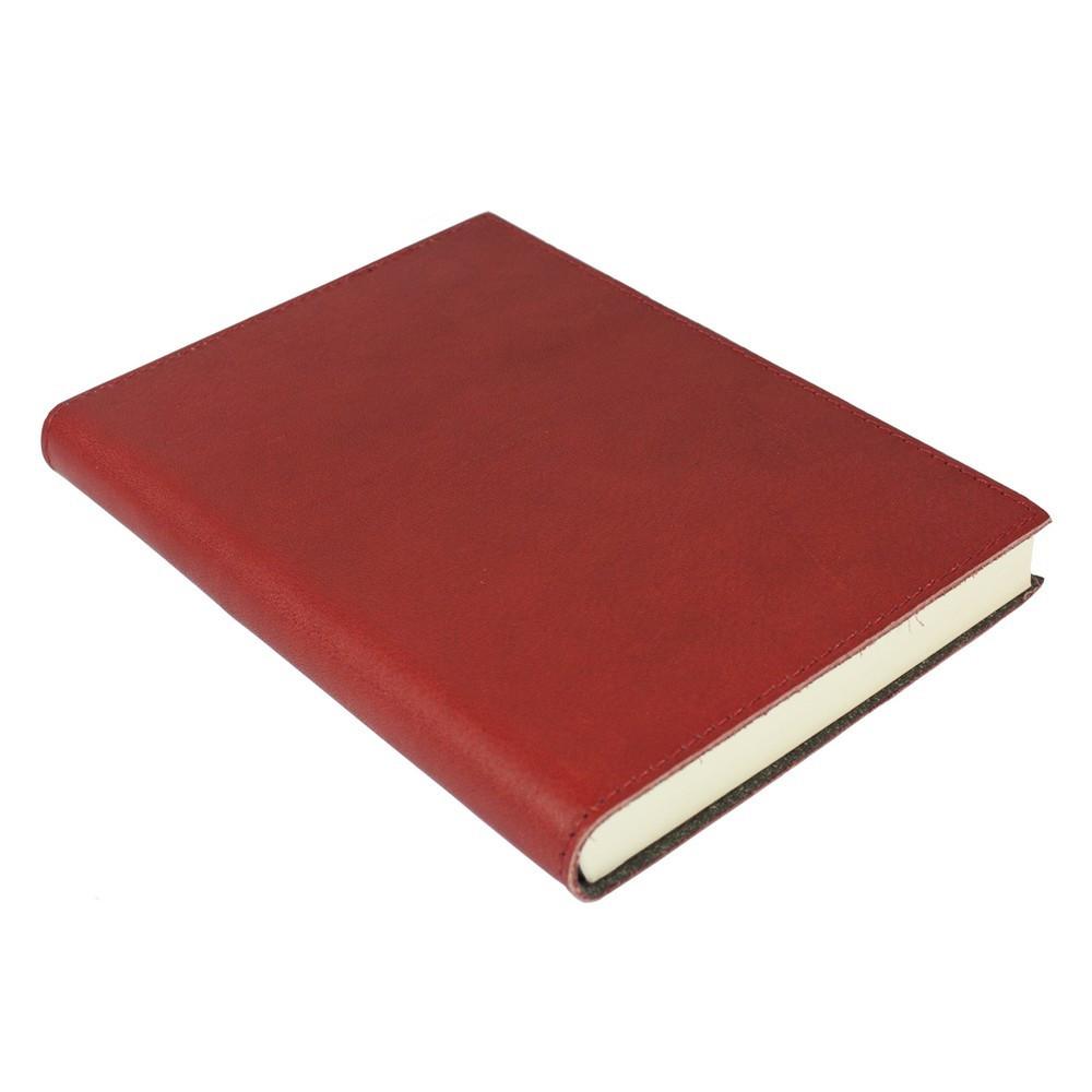 Papuro Firenze Leather Journal - Red - Medium