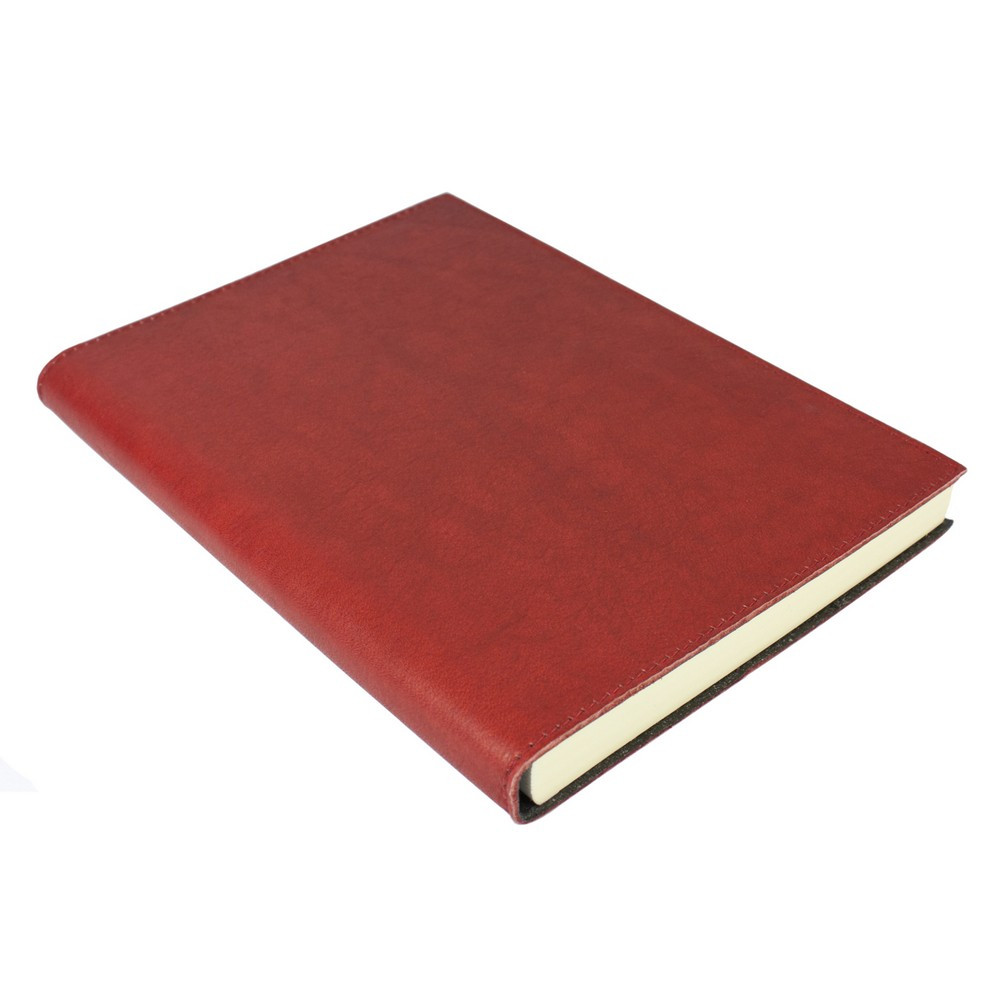 Papuro Firenze Leather Journal - Red - Large