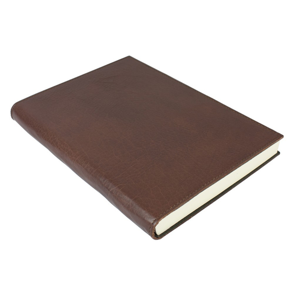 Papuro Firenze Leather Journal - Chocolate - Large