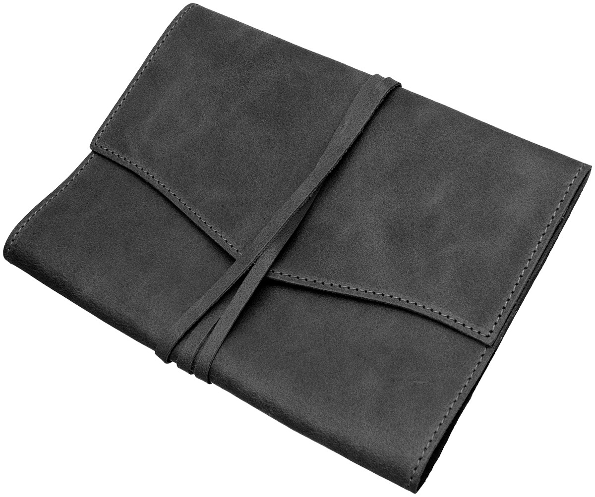 Papuro Milano Medium Refillable Journal - Black with Ruled Pages