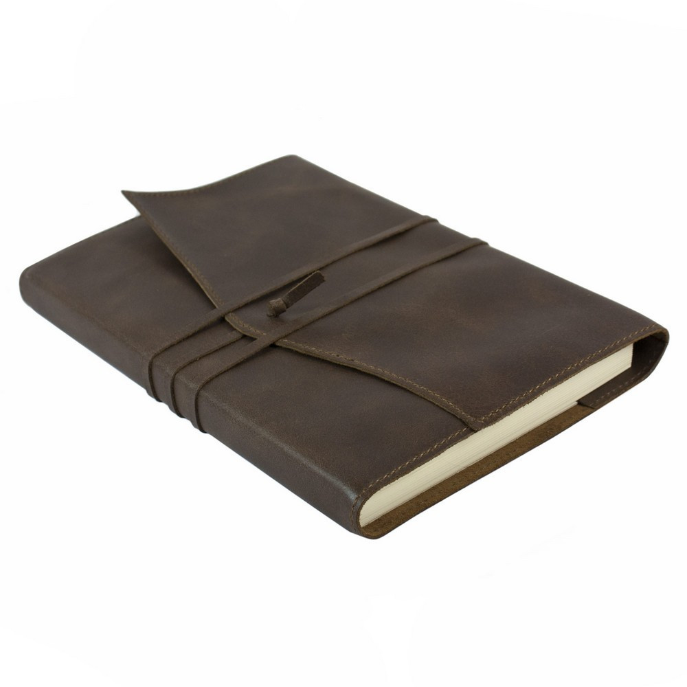 Papuro Milano Large Refillable Journal - Chocolate with Ruled Pages