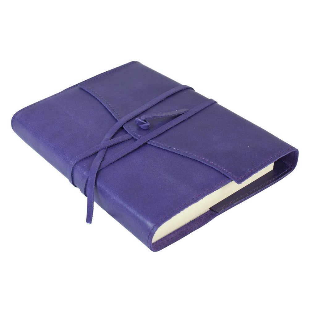 Papuro Milano Medium Refillable Journal - Aubergine with Ruled Pages