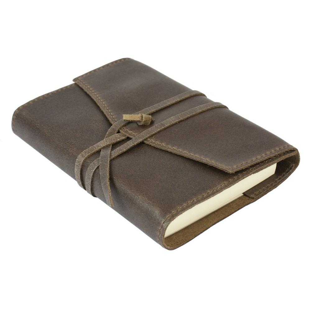 Papuro Milano Small Refillable Journal - Chocolate Address Book