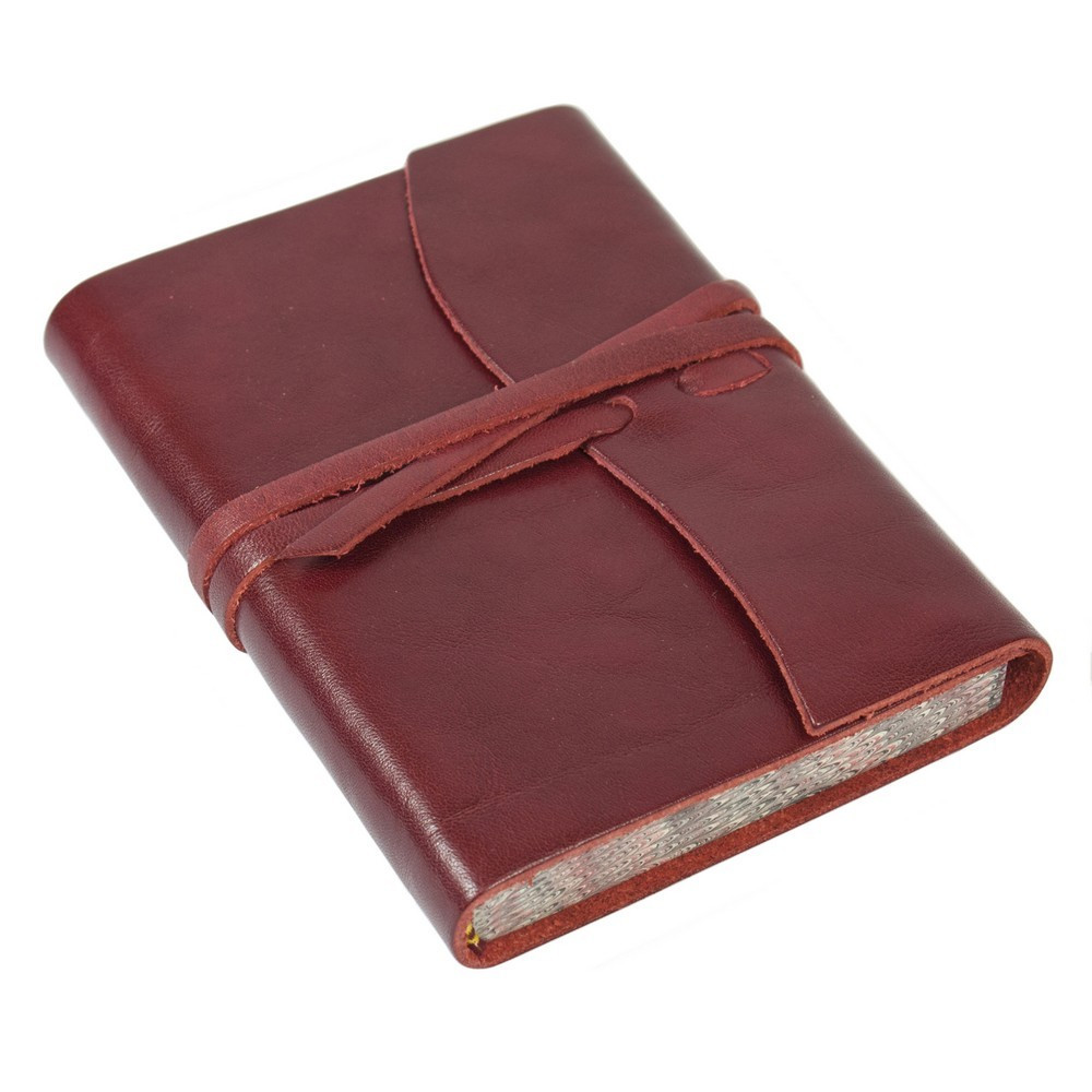 Papuro Roma Leather Journal - Red - Small