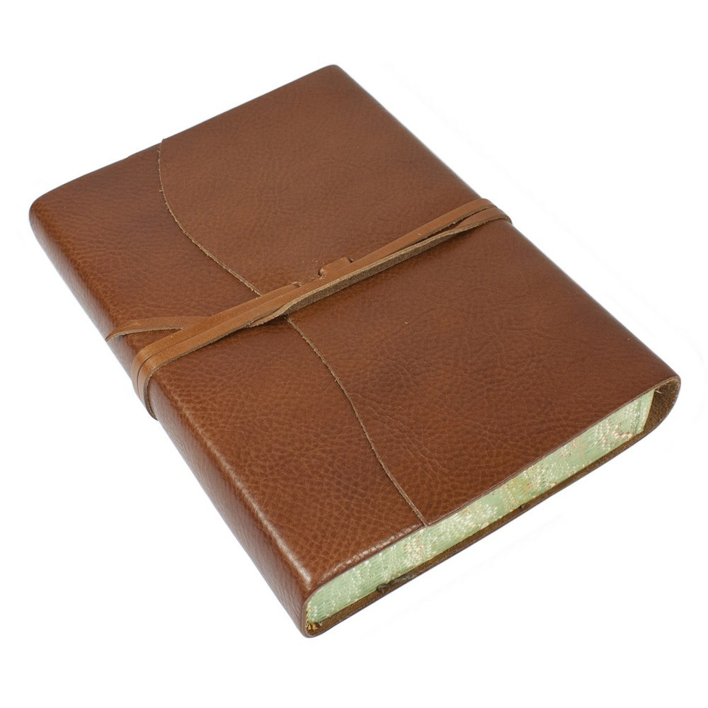Papuro Roma Leather Journal - Brown - Large
