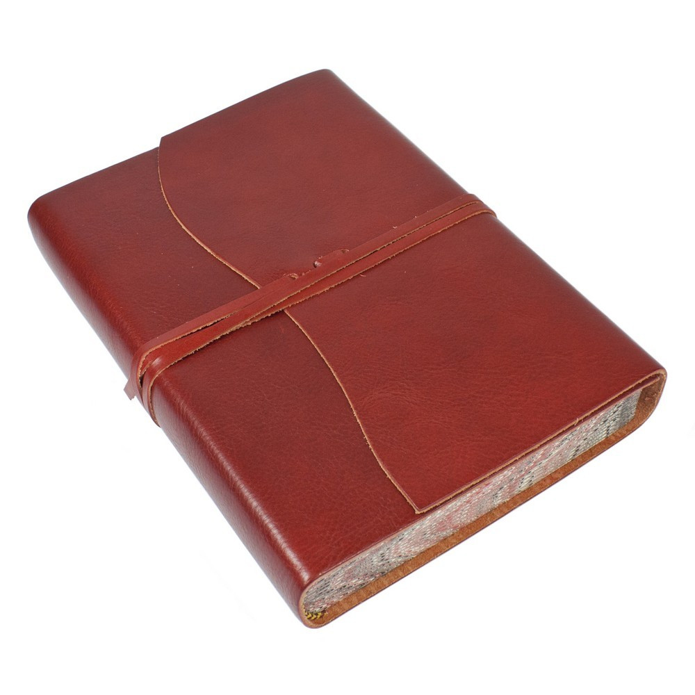 Papuro Roma Leather Journal - Red - Large