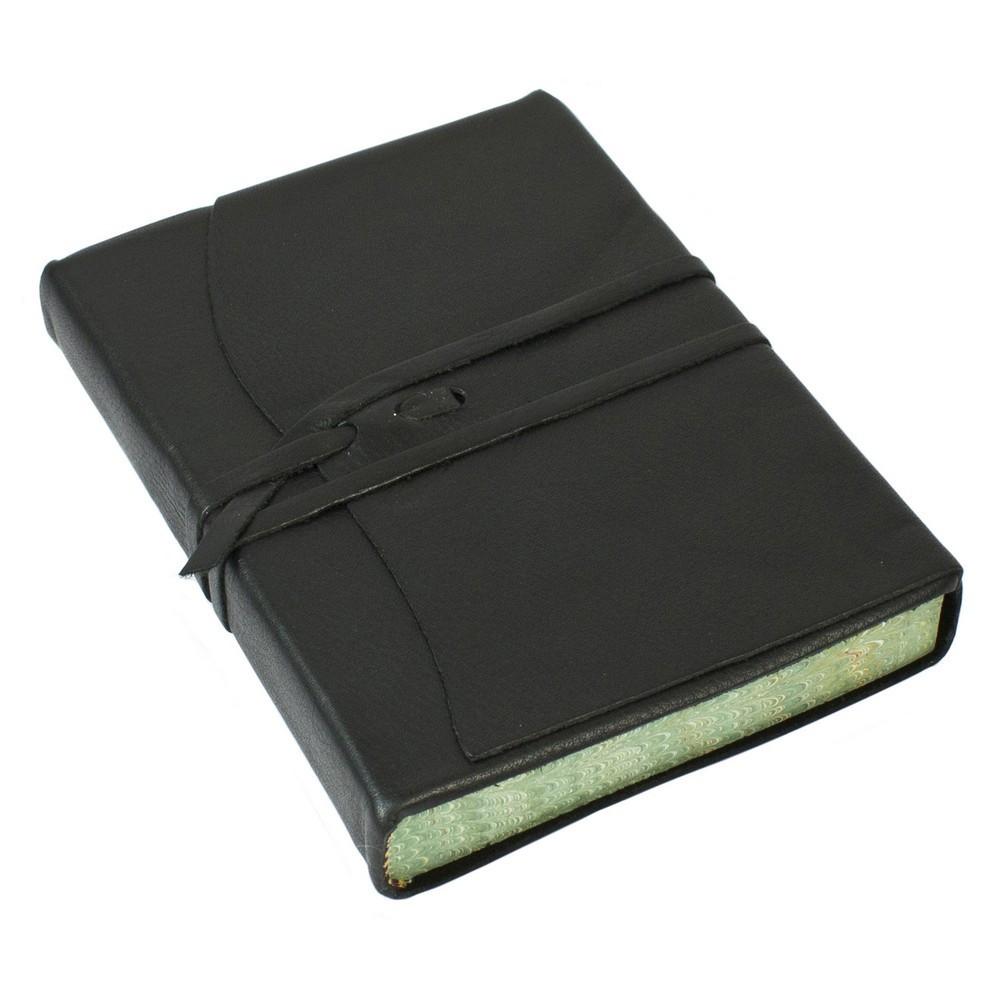Papuro Roma Leather Journal - Black - Medium