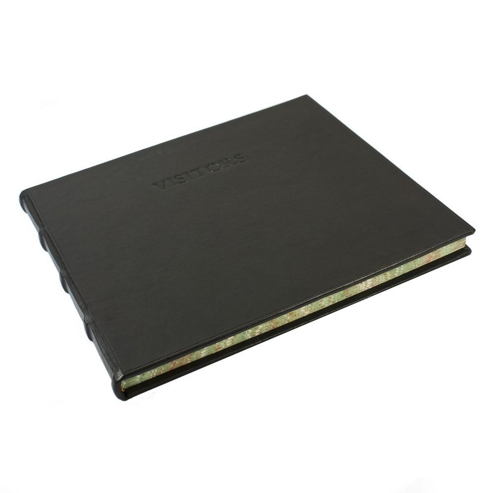 Papuro Large Toscana Visitors Book - Black