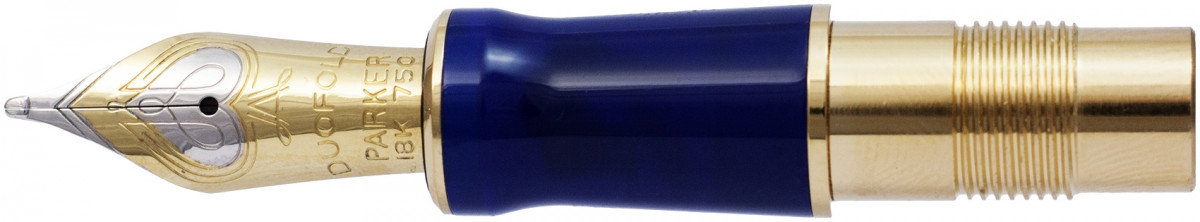 Parker Duofold Centennial Lapis Lazuli Nib - Solid 18K Gold - Broad