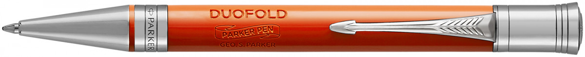 Parker Duofold Classic Ballpoint Pen – Big Red Vintage Chrome Trim
