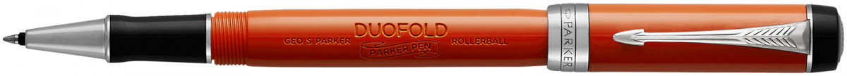 Parker Duofold Classic Rollerball Pen - Big Red Vintage Chrome Trim