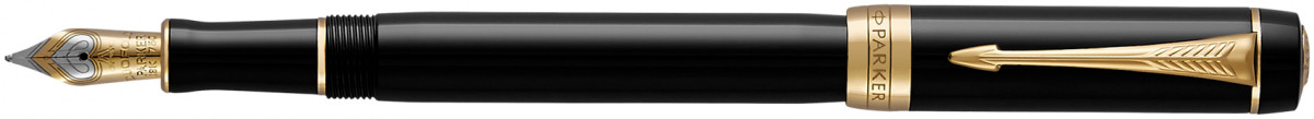 Parker Duofold Classic Fountain Pen – International Black Gold Trim