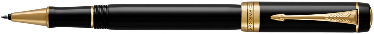 Parker Duofold Classic Rollerball Pen - Black Gold Trim