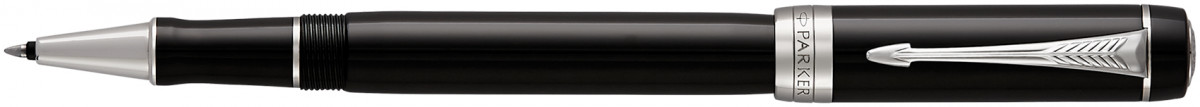 Parker Duofold Classic Rollerball Pen - Black Chrome Trim