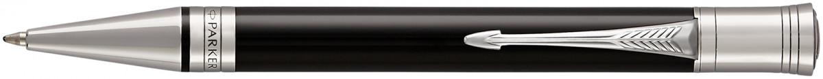Parker Duofold Classic Ballpoint Pen - Black Chrome Trim